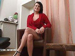 Amateur Brunette Casting French Teen