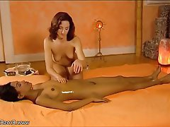 Brunette Lesbian Massage