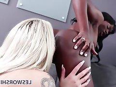 Lesbian Interracial Big Tits Pussy