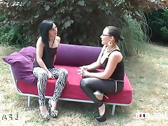 Amateur Babe Casting French Outdoor